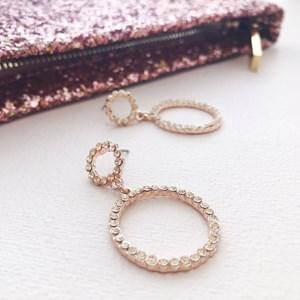 Diamante Mini Ring Drop Earring
