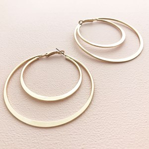 Crescent Moon Hoop Earring