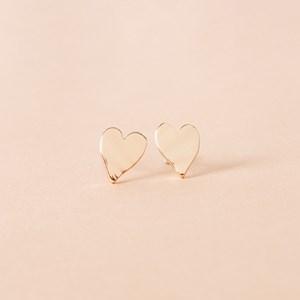 Polished Heart Stud Earring