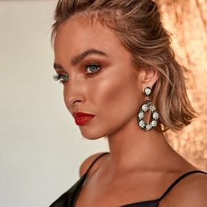 Diamante Pearl Teardop Stud Earrings
