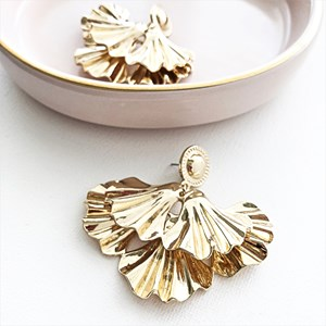 Layered Petal Stud Earring