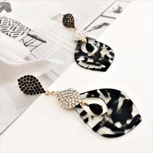 Diamante & Resin Jewel Earrings