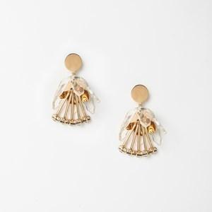 Metal & Resin Tulip Drops Earrings