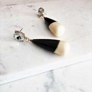 Resin & Jewel Drop Earrings