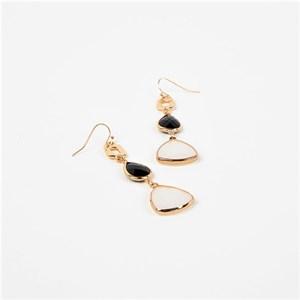 Gems Drops Hook Earrings