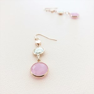 Pearl Glass Drops Earrings