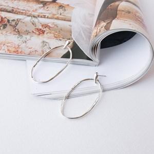 Beaten Oval Ring Earrings