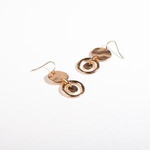 Disc Circle Drop Hook Earrings