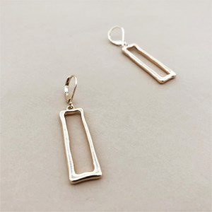Rectangle Hook Earrings