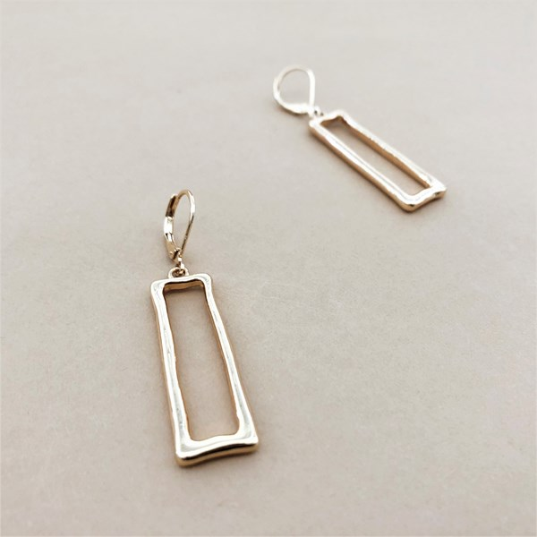 Rectangle Hook Earrings