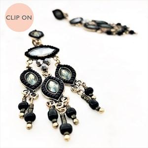 Almond Multi Drop Clip On Earrings