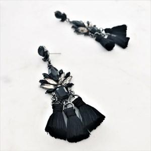 Jewelled Tassel Drop Earrings