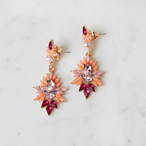 Jewelled Drop Stud Earrings