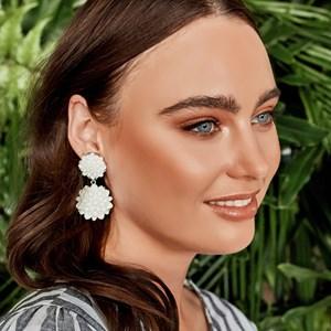 Double Flowers Stud Earrings