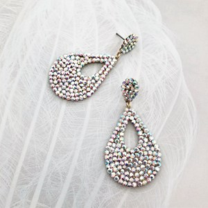 Diamante Teardrop Stud