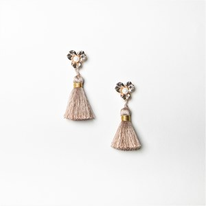 Metal Flower Tassel Earrings