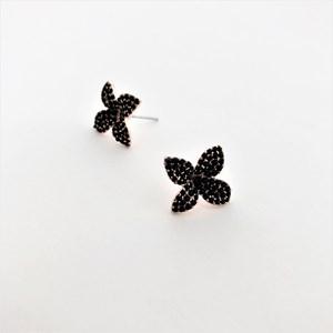Floral Diamante Stud Earrings