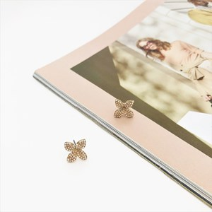 Floral Diamante Stud Earrings