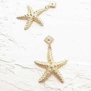Starfish Button Top Earrings