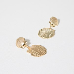Seashells Drop Stud Earrings
