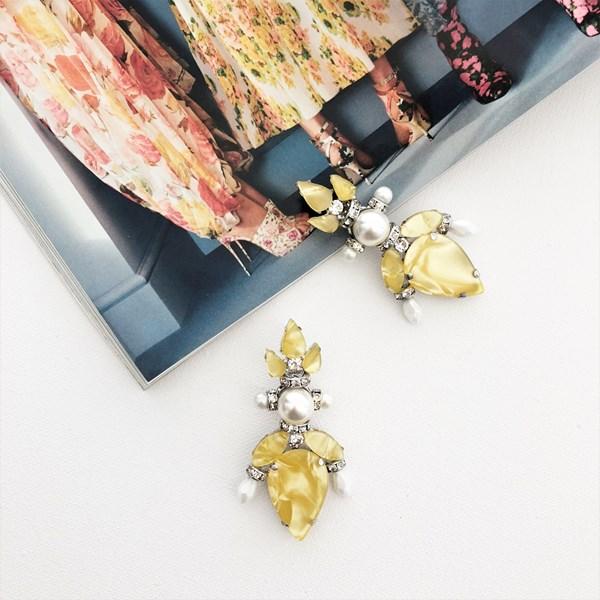 Pearl & Resin Jewel Earrings