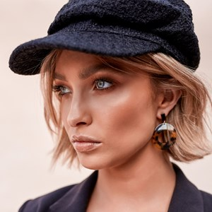 Curved Resin Circle Earrings
