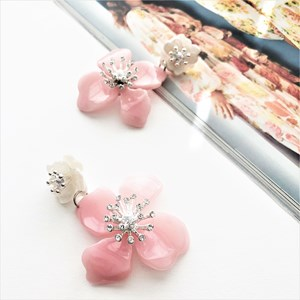 Flower Drops Resin Earrings