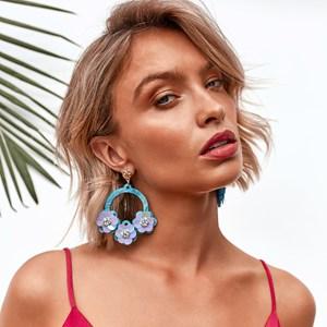 Floral Fiesta Resin Earrings