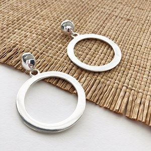 Ring Front Stud Earrings