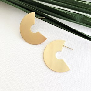Arched Front Metal Earrings
