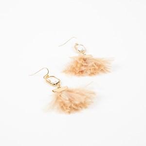 Floaty Feather Hook Earrings
