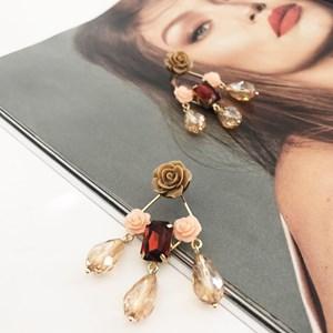 Floral Bead Droplets Earrings
