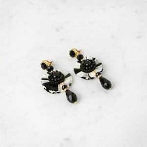 Bead Drop Raffia Stud Earrings