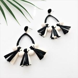 Tassel PomPom Fringe Earrings