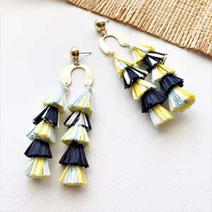 Layered Tassel U Shape Earrings