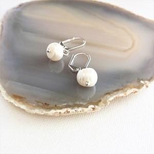 Fresh Water Pearl Drop French Hook Earrings