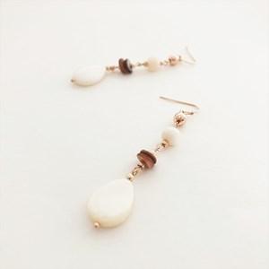 Fine Shell & Teardrop Mix Hook Earrings