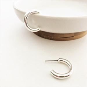 Metal Tube Open End Mini Hoop Earrings