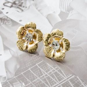 Jewel Centre Flower Stud Earrings