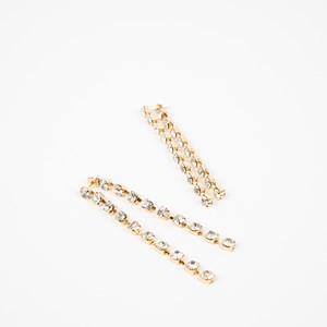 Clawed Diamante Chain Drop Earrings
