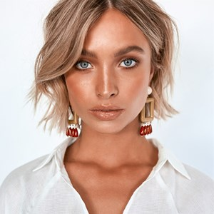 Resin Rectangle & Droplets Mod Earrings