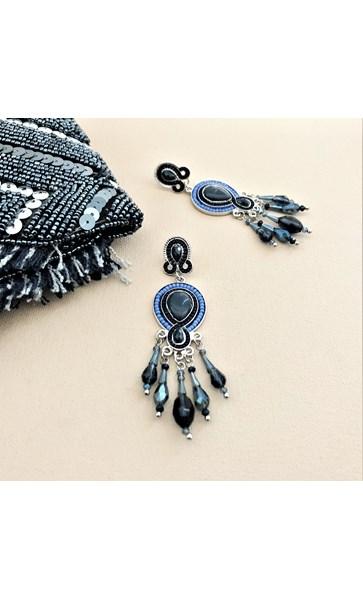 Jewel Almond Mix Crystal Droplets Earrings