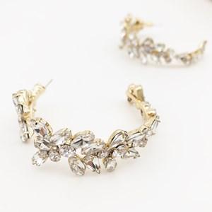 Jewelled Vine Statement Hoop Earrings