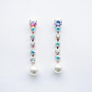 Clawed Jewels Pearl Drop Earrings