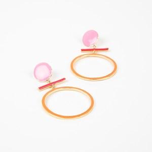 Enamel Mod Shapes Ring Drop Earrings