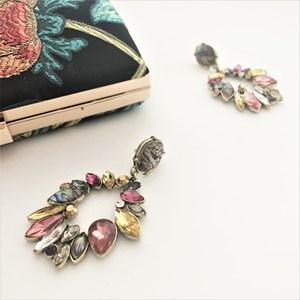 Treasure Hunt Jewelled Almond Drop Earrings