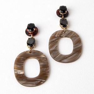 Clawed Jewels Resin Oval Drop Earrings