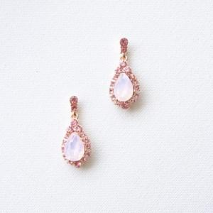 Glass & Diamante Teardrop Mini Earrings