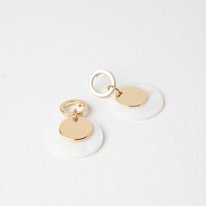 Mini Shell & Metal Disc Drop Earrings