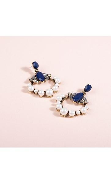 Eclectic Pearl Edge Jewel Mix Earrings